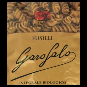 Pasta Fusilli Integral Bio